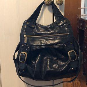 Kooba black leather satchel